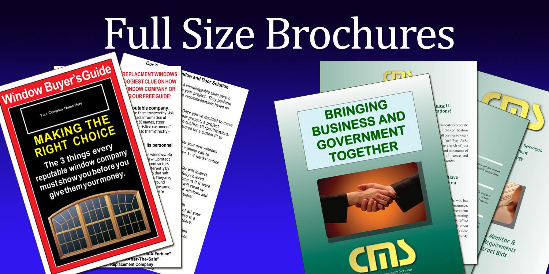 full size brochures
